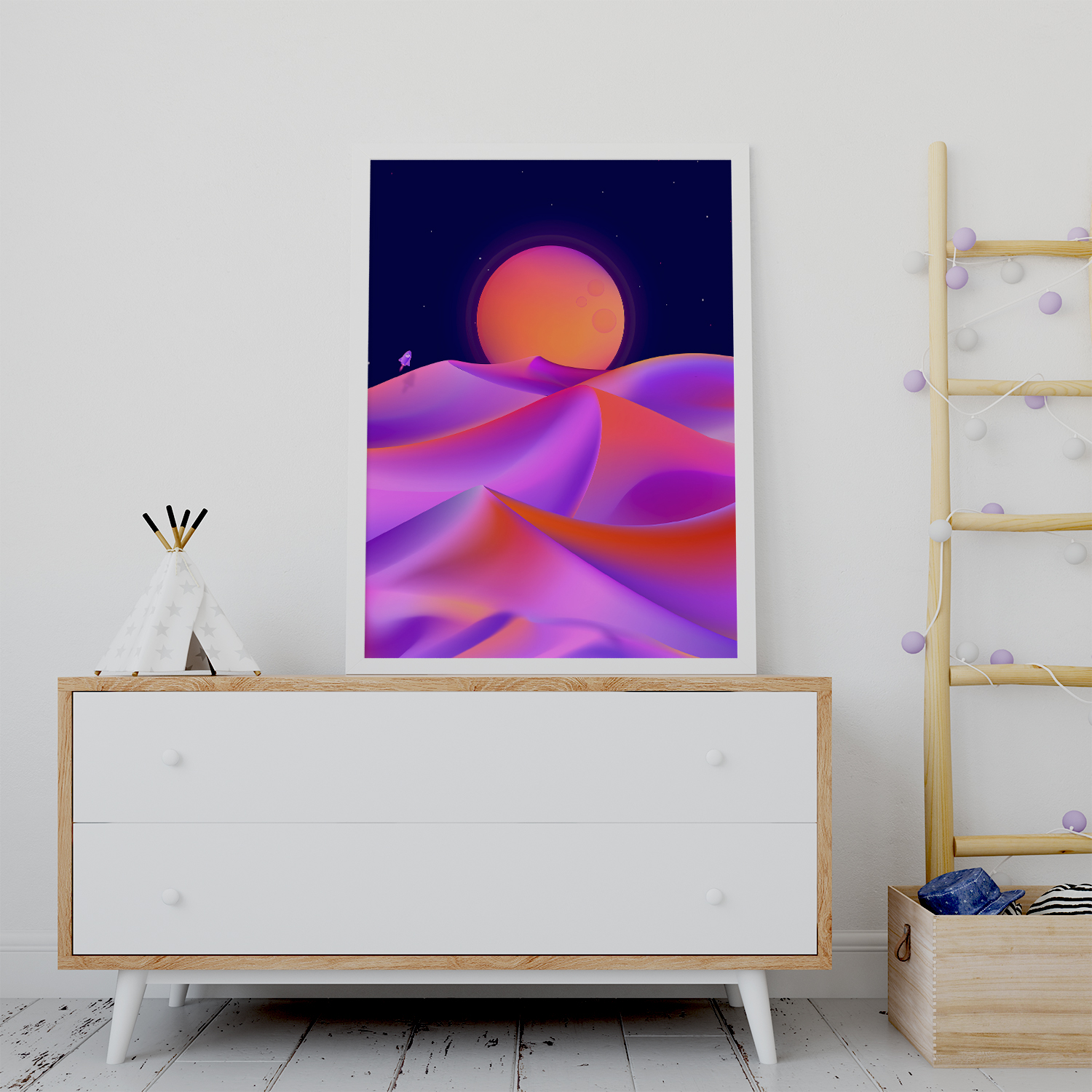 Plakat - Colorful desert